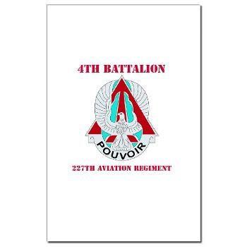 4B227AR - M01 - 02 - DUI - 4th Battalion - 227th Aviation Regt with Text - Mini Poster Print