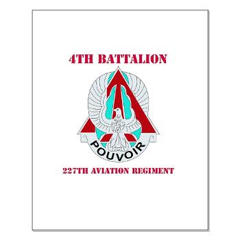 4B227AR - M01 - 02 - DUI - 4th Battalion - 227th Aviation Regt with Text - Small Poster
