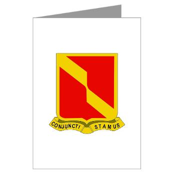 4B27FAR - M01 - 02 - DUI - 4th Bn - 27th FA Regt - Greeting Cards (Pk of 10)