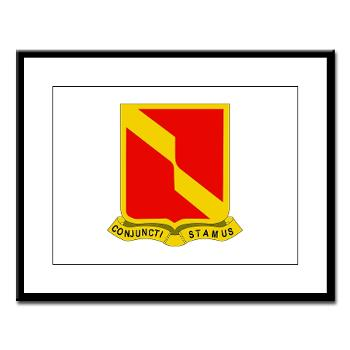 4B27FAR - M01 - 02 - DUI - 4th Bn - 27th FA Regt - Large Framed Print