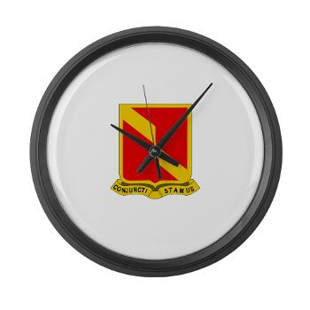 4B27FAR - M01 - 03 - DUI - 4th Bn - 27th FA Regt - Large Wall Clock