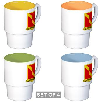 4B27FAR - M01 - 03 - DUI - 4th Bn - 27th FA Regt - Stackable Mug Set (4 mugs)