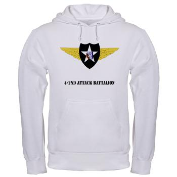 4B2AB - A01 - 03 - SSI - 4-2nd Attack Bn with Text Hooded Sweatshirt