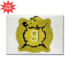 4B9IR - M01 - 01 - DUI - 4th Battalion - 9th Infantry Regiment Rectangle Magnet (100 pack)