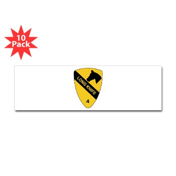 4BCT - M01 - 01 - DUI - 4th Heavy BCT - Long Knife - Sticker (Bumper 10 pk)