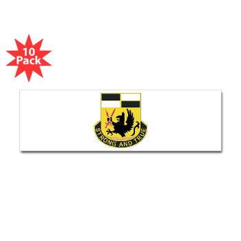4BCTSTB - M01 - 01 - DUI - 4th BCT - Special Troops Battalion Sticker (Bumper 10 pk)