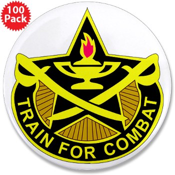 "4CAV - M01 - 01 - DUI - 4th Cavalry Brigade Rectangle 3.5"" Button (100 pack)"