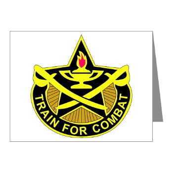 4CAV - M01 - 02 - DUI - 4th Cavalry Brigade Rectangle Note Cards (Pk of 20)