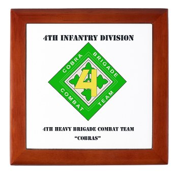4HBCT - M01 - 03 - DUI - 4th Heavy BCT - Cobras with Text - Keepsake Box