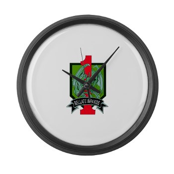 4HBCTDB - M01 - 03 - DUI - 4th HBCT - Dragon Brigade Large Wall Clock