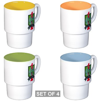4HBCTDB - M01 - 03 - DUI - 4th HBCT - Dragon Brigade Stackable Mug Set (4 mugs)