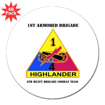 "4HCTB - M01 - 01 - DUI - 4th Heavy BCT 3"" Lapel Sticker (48 pk)"