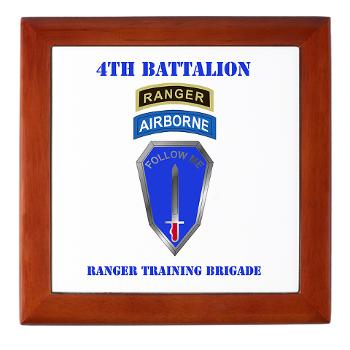 4RTB - M01 - 03 - DUI - 4th Ranger Training Brigade with Text - Keepsake Box