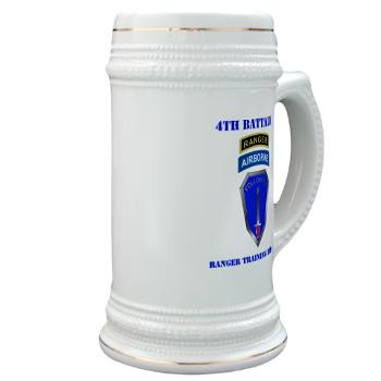 4RTB - M01 - 03 - DUI - 4th Ranger Training Brigade with Text - Stein