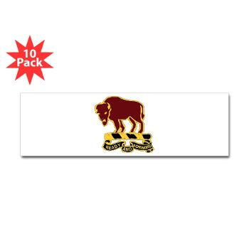4S10CR - M01 - 01 - DUI - 4th Sqdrn - 10th Cavalry Regt - Sticker (Bumper 10 pk)