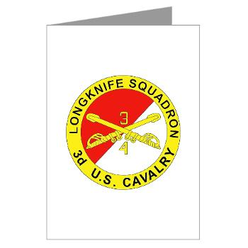 4S3ACR - M01 - 02 - DUI - 4th Sqdrn (Aviation) - 3rd ACR - Greeting Cards (Pk of 20)