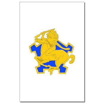 4S9CR - M01 - 02 - DUI - 4th Squadron - 9th Cavalry Regiment - Mini Poster Print