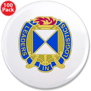 "4SC - M01 - 01 - DUI - 4th Sustainment Command 3.5"" Button (100 pack)"