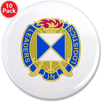 "4SC - M01 - 01 - DUI - 4th Sustainment Command 3.5"" Button (10 pack)"