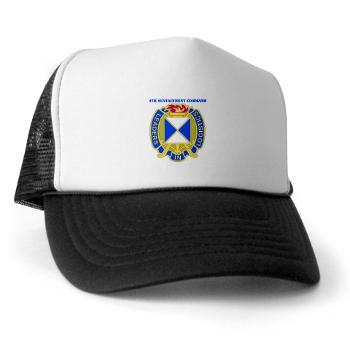 4SC - A01 - 02 - DUI - 4th Sustainment Command with Text Trucker Hat
