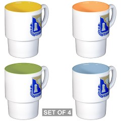 501BSB - M01 - 03 - DUI - 501st Brigade - Support Battalion Stackable Mug Set (4 mugs)