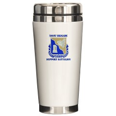 501BSB - M01 - 03 - DUI - 501st Brigade - Support Battalion with Text Ceramic Travel Mug