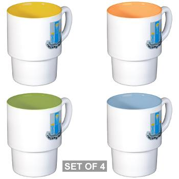 502MIB - M01 - 03 - DUI - 502nd Military Intelligence Bn - Stackable Mug Set (4 mugs)