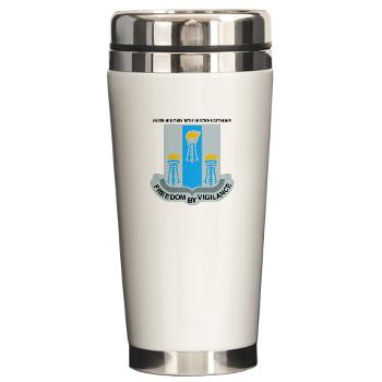 502MIB - M01 - 03 - DUI - 502nd Military Intelligence Bn with Text - Ceramic Travel Mug