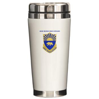 508MPB - M01 - 03 - DUI - 508th Military Police Bn with Text Ceramic Travel Mug