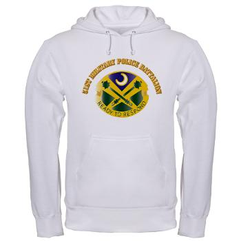 51MPB - A01 - 03 - DUI - 51st Military Police Battalion with Text- Hooded Sweatshirt