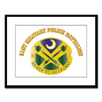 51MPB - M01 - 02 - DUI - 51st Military Police Battalion with Text- Large Framed Print