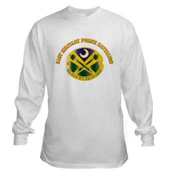51MPB - A01 - 03 - DUI - 51st Military Police Battalion with Text- Long Sleeve T-Shirt