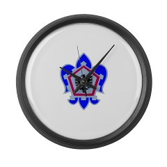 555EB - M01 - 03 - DUI - 555th Engineer Brigade - Large Wall Clock