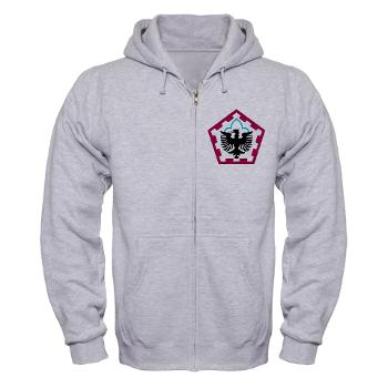 555HHC - A01 - 03 - DUI - Headquarter and Headquarters Company - Zip Hoodie