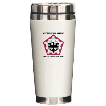 555HHC - M01 - 03 - DUI - Headquarter and Headquarters Company with Text - Ceramic Travel Mug