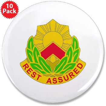 "593SB - M01 - 01 - DUI - 593rd Sustainment Brigade 3.5"" Button (10 pack)"