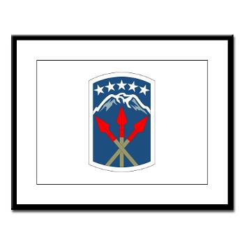 593SB593STB - M01 - 02 - DUI - 593rd Bde - Special Troops Bn - Large Framed Print
