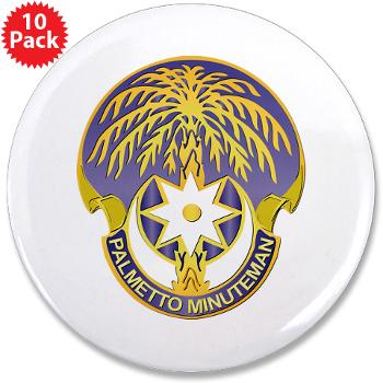 "59TC - M01 - 01 - DUI - 59th Troop Command - 3.5"" Button (10 pack)"
