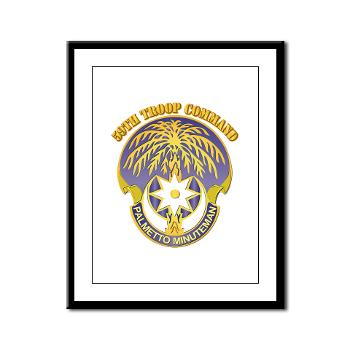 59TC - M01 - 02 - DUI - 59th Troop Command with Text - Framed Panel Print