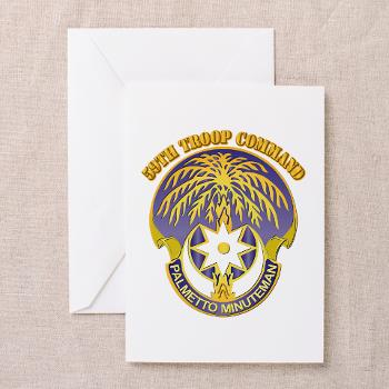 59TC - M01 - 02 - DUI - 59th Troop Command with Text - Greeting Cardrds (Pk of 20)