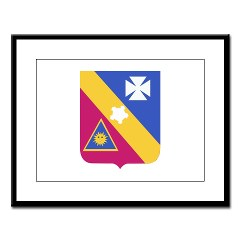 5B20IR - M01 - 02 - DUI - 5th Battalion - 20th Infantry Regiment Large Framed Print