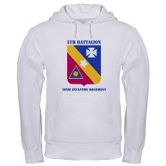 5B20IR - A01 - 03 - DUI - 5th Battalion - 20th Infantry Regiment with text Hooded Sweatshirt