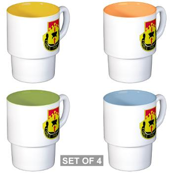 615ASB - M01 - 03 - DUI - 615th Aviation Support Battalion - Stackable Mug Set (4 mugs)