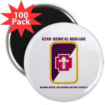 "62MBHHC - M01 - 01 - DUI - Headquarter and Headquarters Company with Text 2.25"" Magnet (100 pack)"