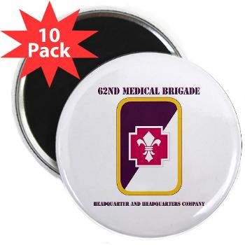 "62MBHHC - M01 - 01 - DUI - Headquarter and Headquarters Company with Text 2.25"" Magnet (10 pack)"