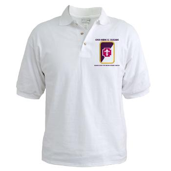 62MBHHC - A01 - 04 - DUI - Headquarter and Headquarters Company with Text Golf Shirt