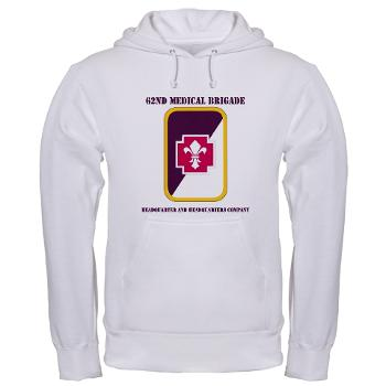 62MBHHC - A01 - 03 - DUI - Headquarter and Headquarters Company with Text Hooded Sweatshirt