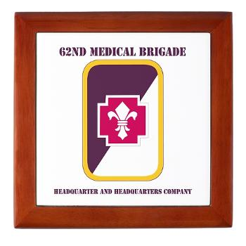 62MBHHC - M01 - 03 - DUI - Headquarter and Headquarters Company with Text Keepsake Box