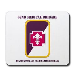 62MBHHC - M01 - 03 - DUI - Headquarter and Headquarters Company with Text Mousepad