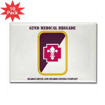 62MBHHC - M01 - 01 - DUI - Headquarter and Headquarters Company with Text Rectangle Magnet (10 pack)